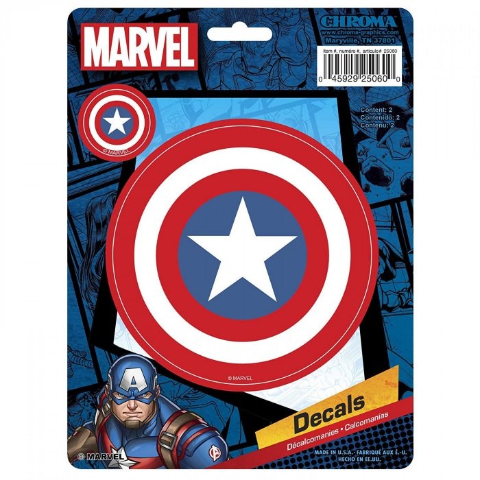 Captain America Shield Car Decal