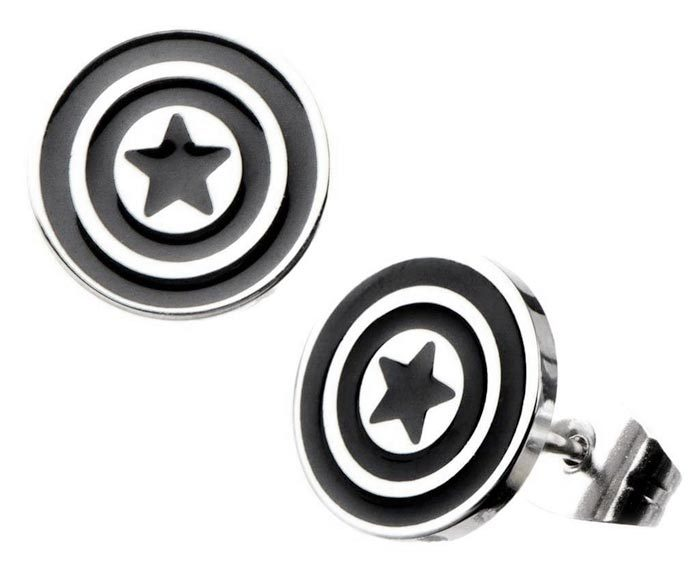 Captain America Stud Earrings
