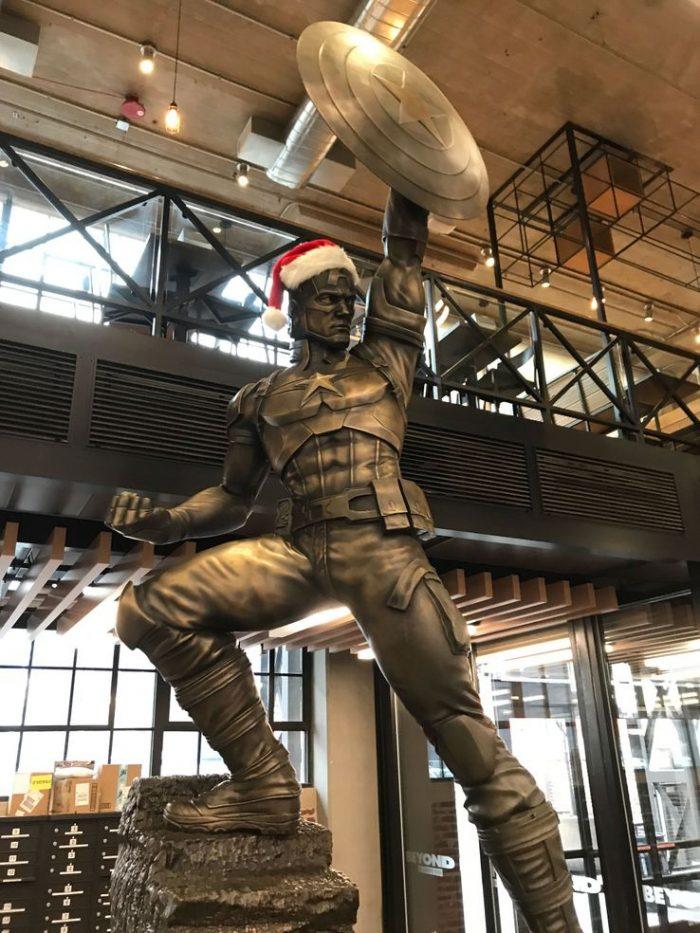Captain America Statue for Christmas