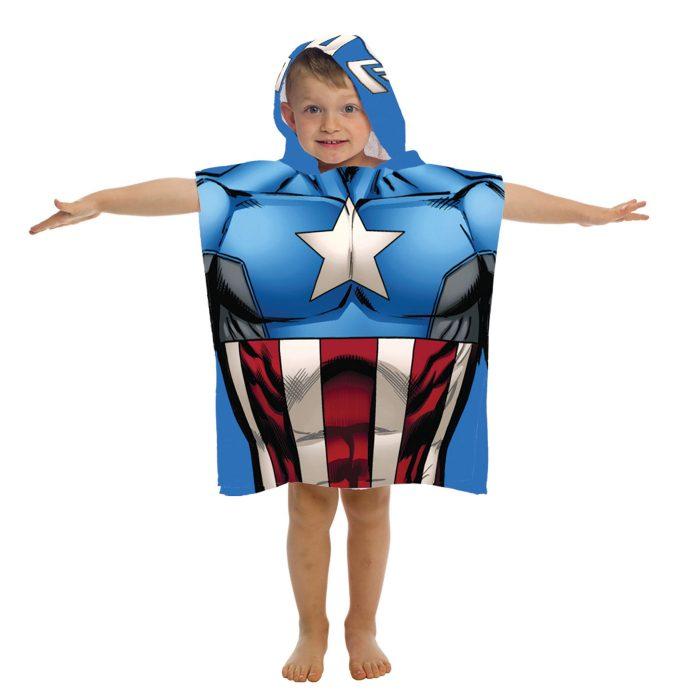 Captain America Hooden Poncho Towel