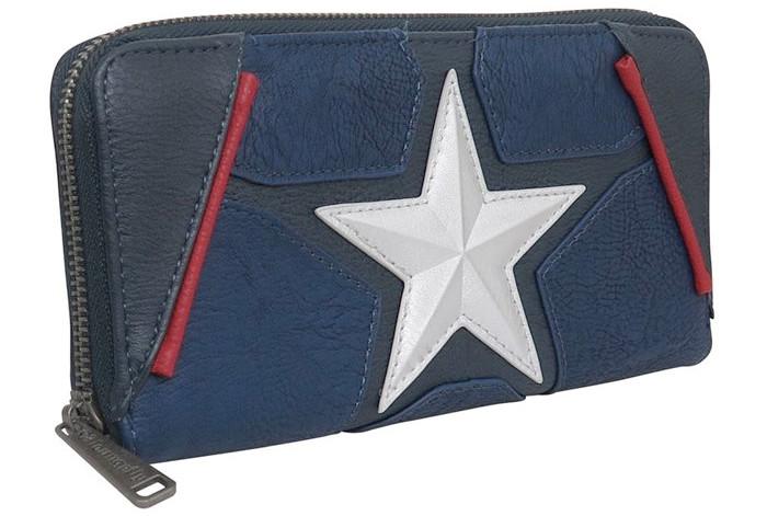 Captain America Zip Around Wallet
