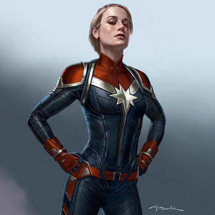 Captain Marvel Concept Art - Short Hair
