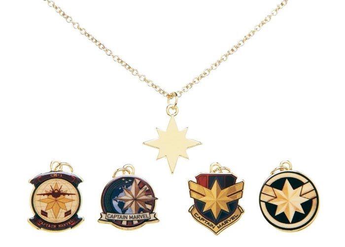 Captain Marvel Charm Necklace