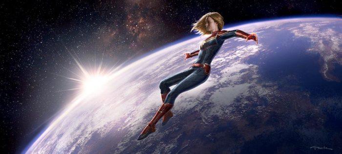 Captain Marvel Keyframe Art
