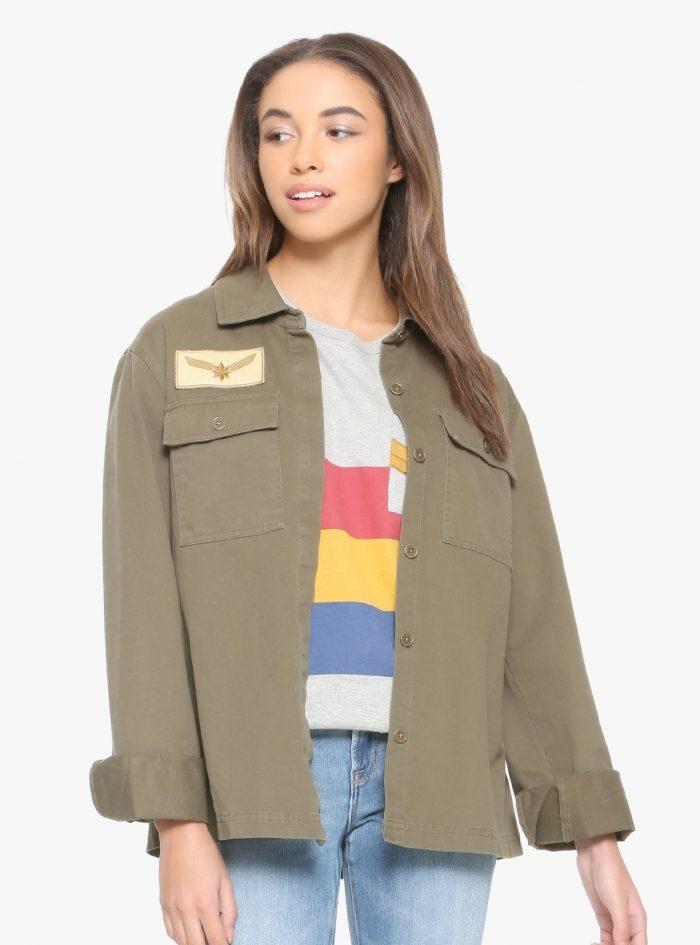 Captain Marvel Ladies Army Jacket