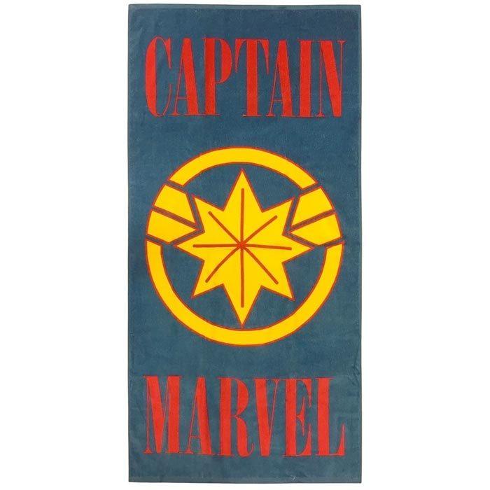 Captain Marvel Towel Logo