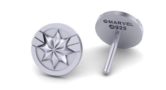 Captain Marvel Stud Earrings