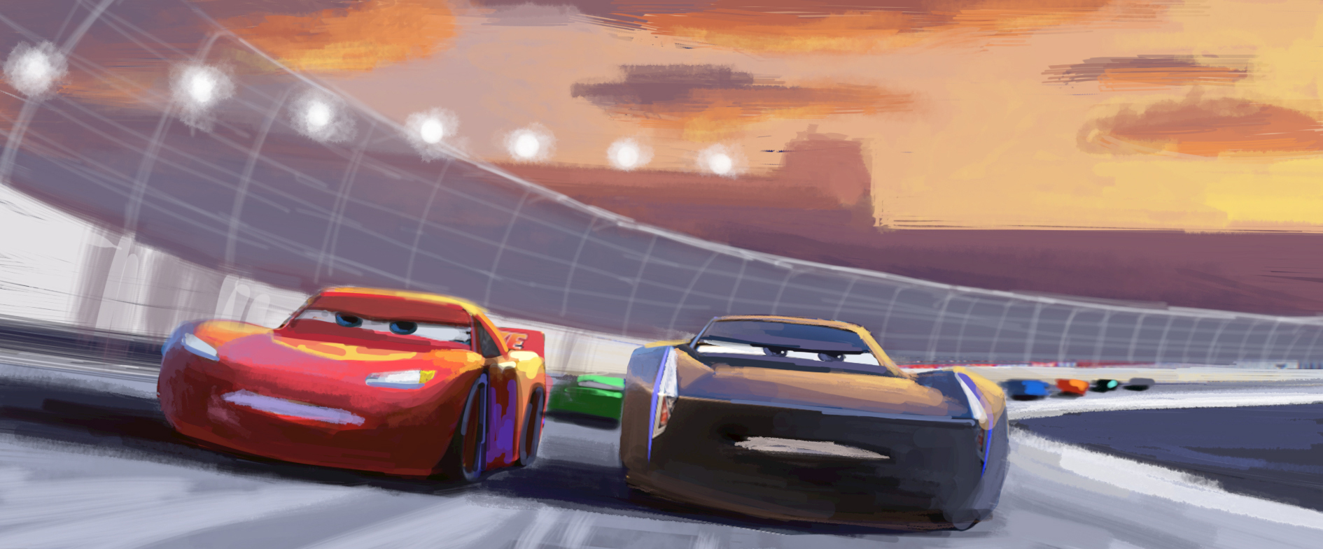 see cars 3 scene evolution from storyboard to final cut. Black Bedroom Furniture Sets. Home Design Ideas
