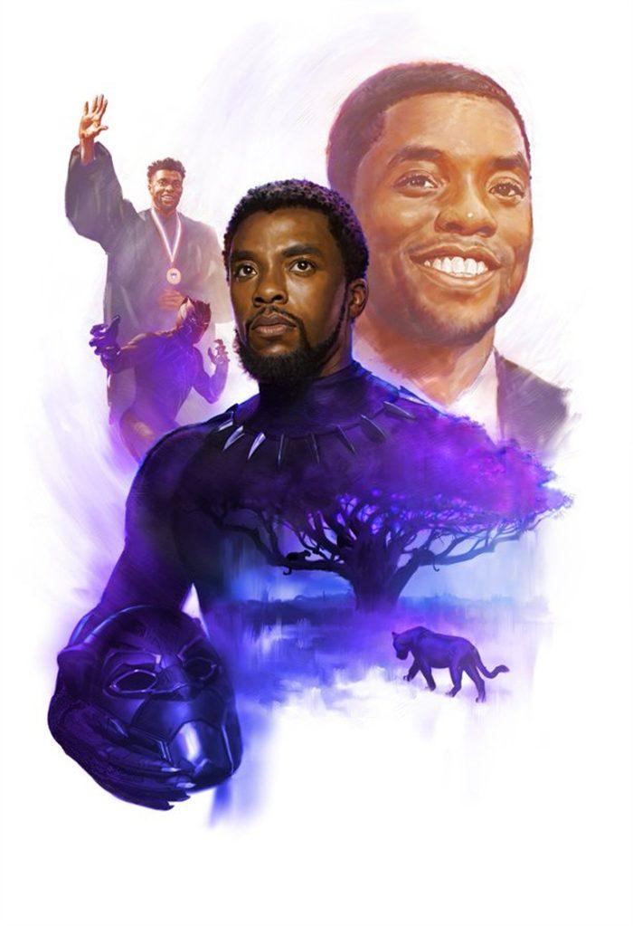 Marvel Artwork Tribute to Chadwick Boseman