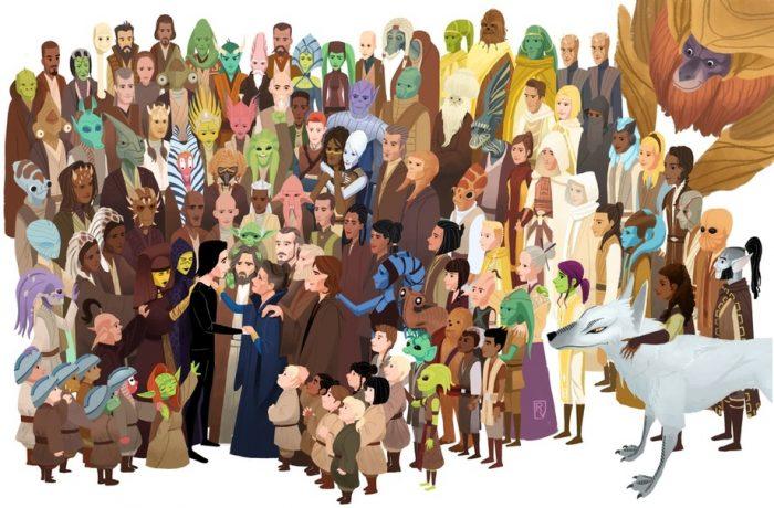 Star Wars Generations Art Print