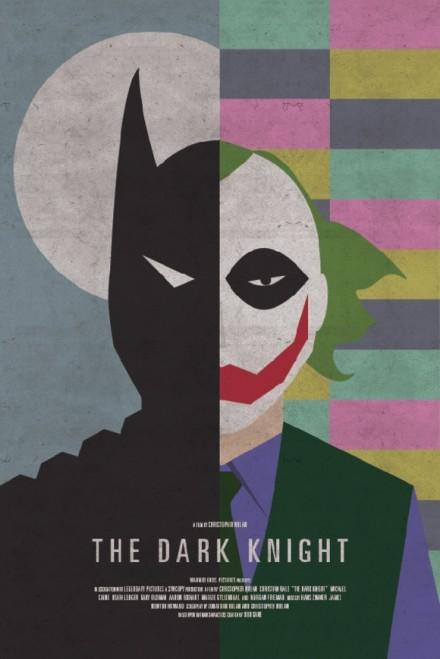 dark knight split fan poster