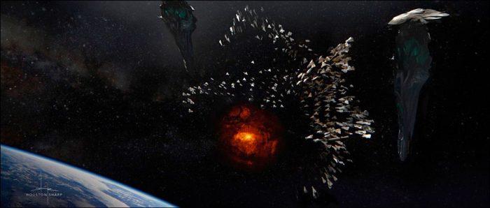 Dark Phoenix Concept Art - Final Scene