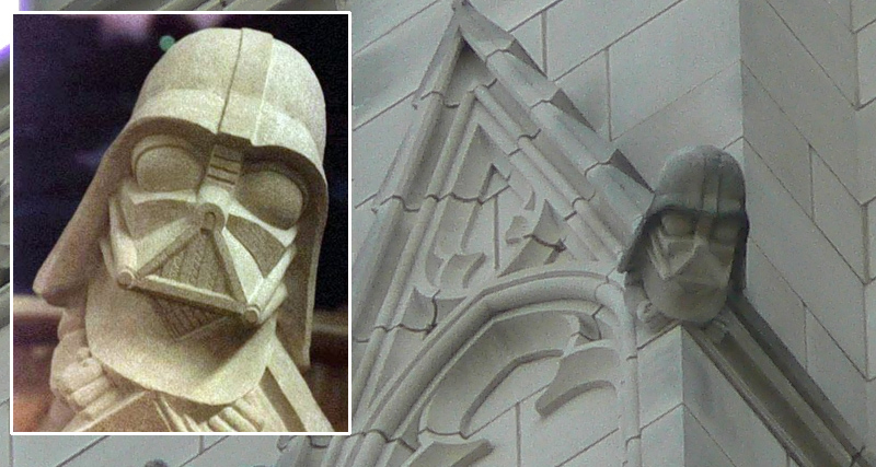 darth vader is carved into the national cathedral film