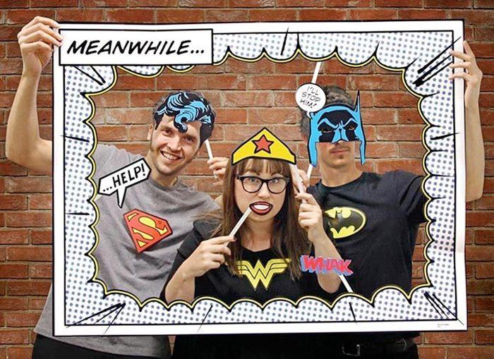 DC Comics Photo Booth Accessories