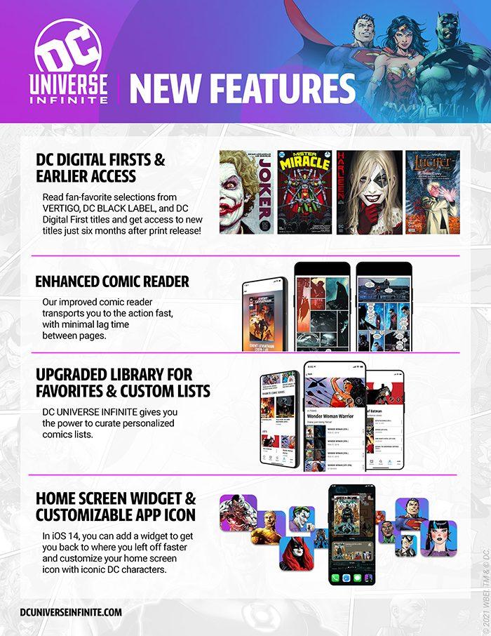 DC Universe Infinite Customizable Features