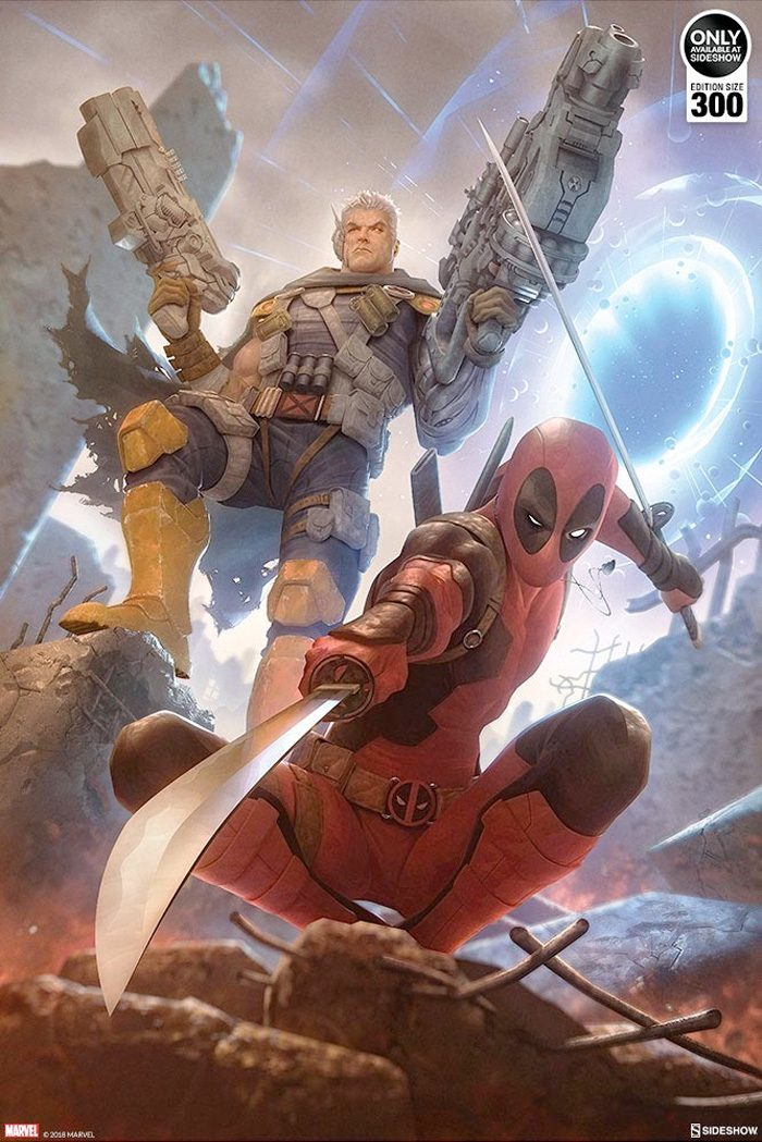 Deadpool and Cable - Sideshow Collectibles Art