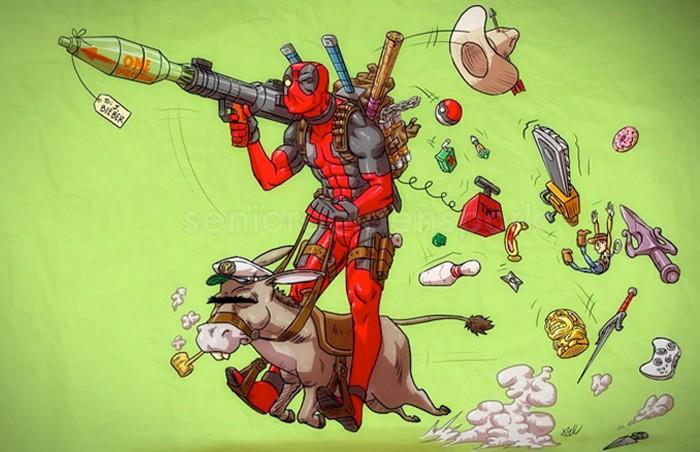 Deadpool Donkey Print
