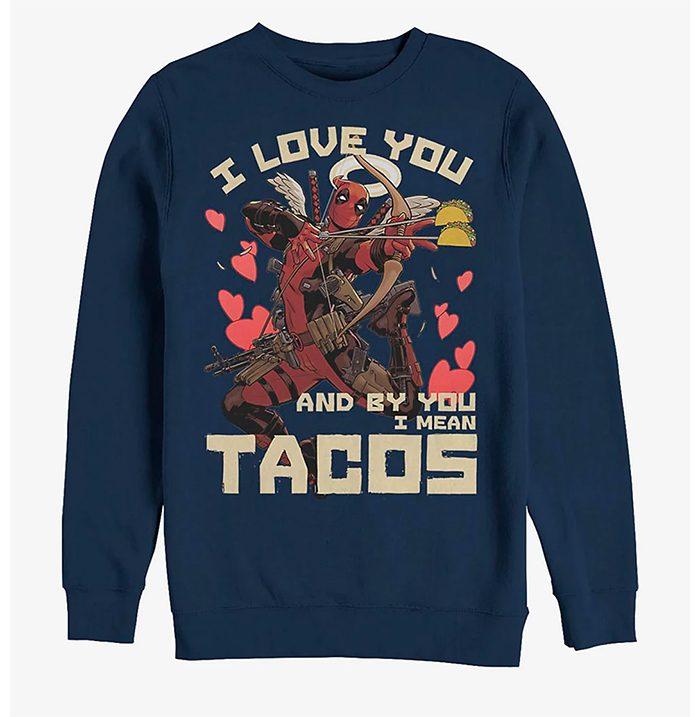 Deadpool Love and Tacos Sweatshirt