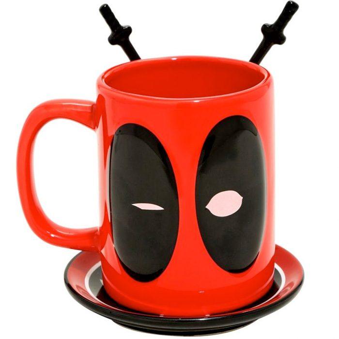 Deadpool Mug with Spoons