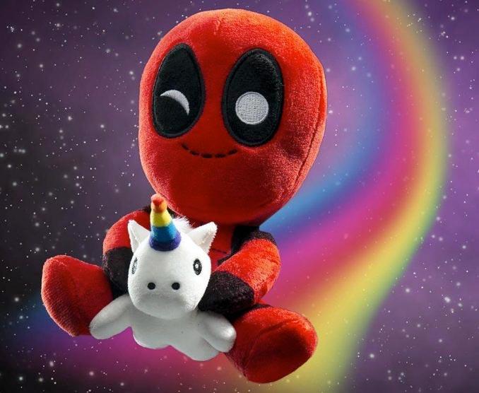 Deadpool with Unicorn Plush