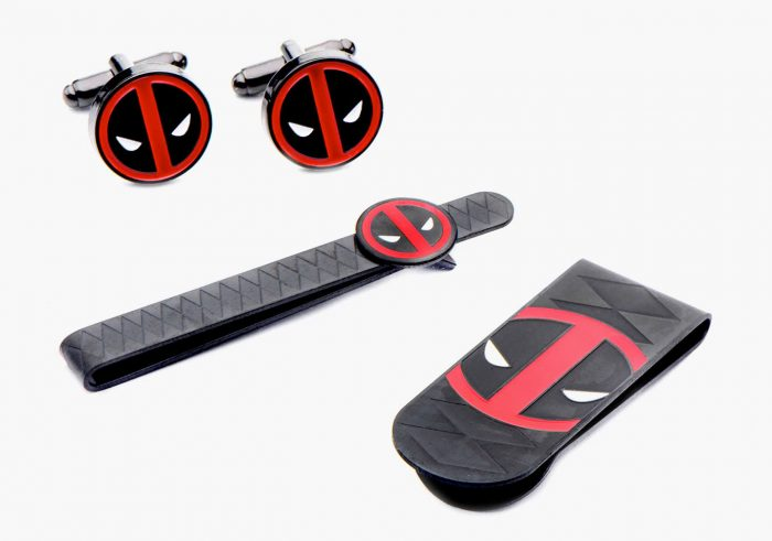 Deadpool Money Clip, Tie Bar and Cuff Links