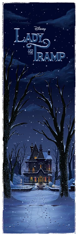 Ben Harman Disney Dreamland Art - Lady and the Tramp Winter