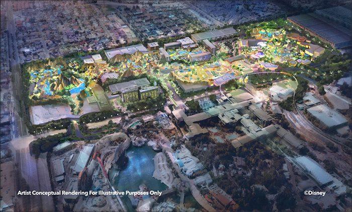 Disneyland Immersive Theme Park Expansion - Whole Concept Art