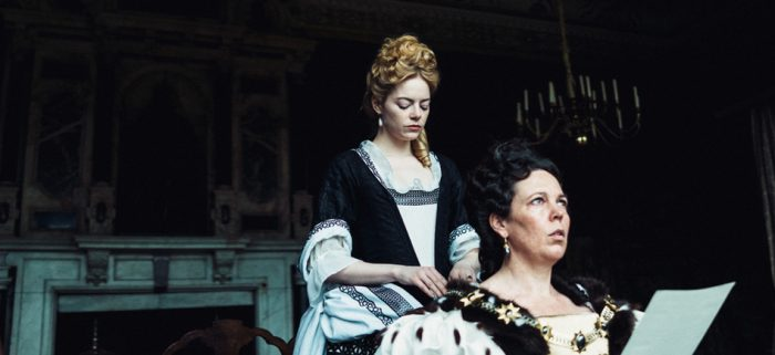 emma stone and olivia colman in the favourite