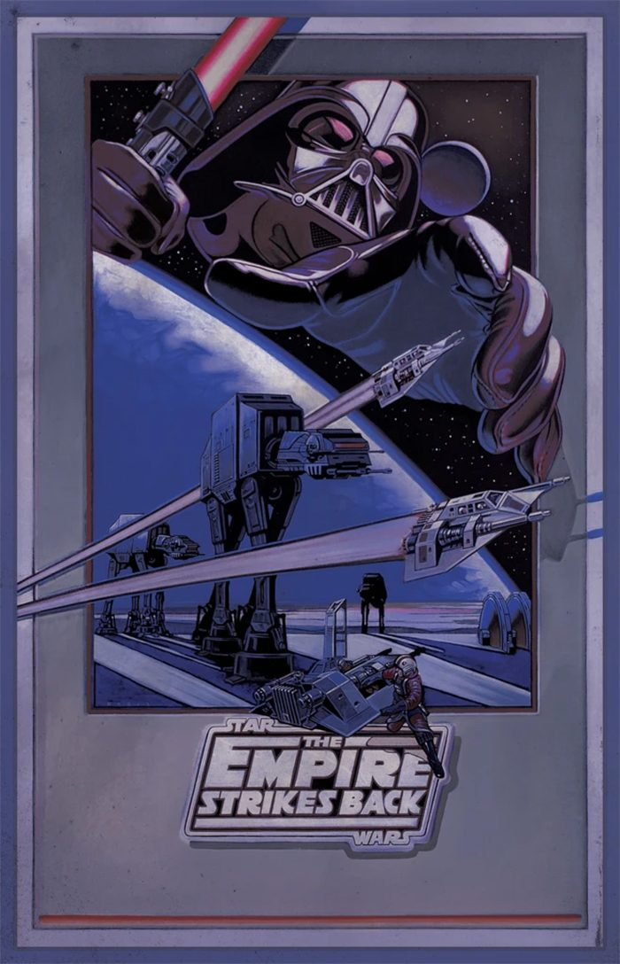Star Wars Day 2021 Posters - The Empire Strikes Back by Lawrence Noble