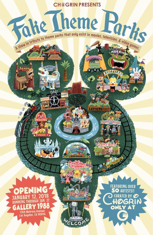 Fake Theme Parks Art Show