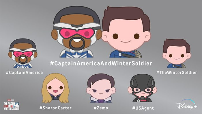 The Falcon and The Winter Soldier - 100% Soft Emojis