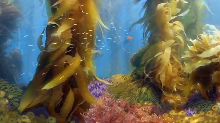 FINDING DORY concept art kelp forrest