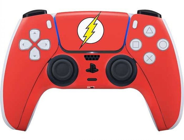 The Flash PlayStation 5 Controller Skin
