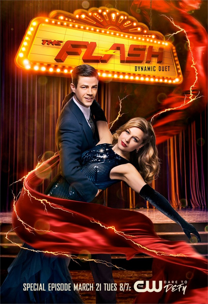 The Flash and Supergirl Musical Crossover Poster