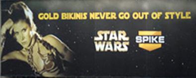 Princess Leia Gold Bikini Ad