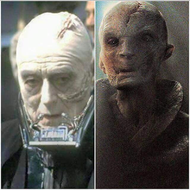 Snoke / Darth Vader Comparison