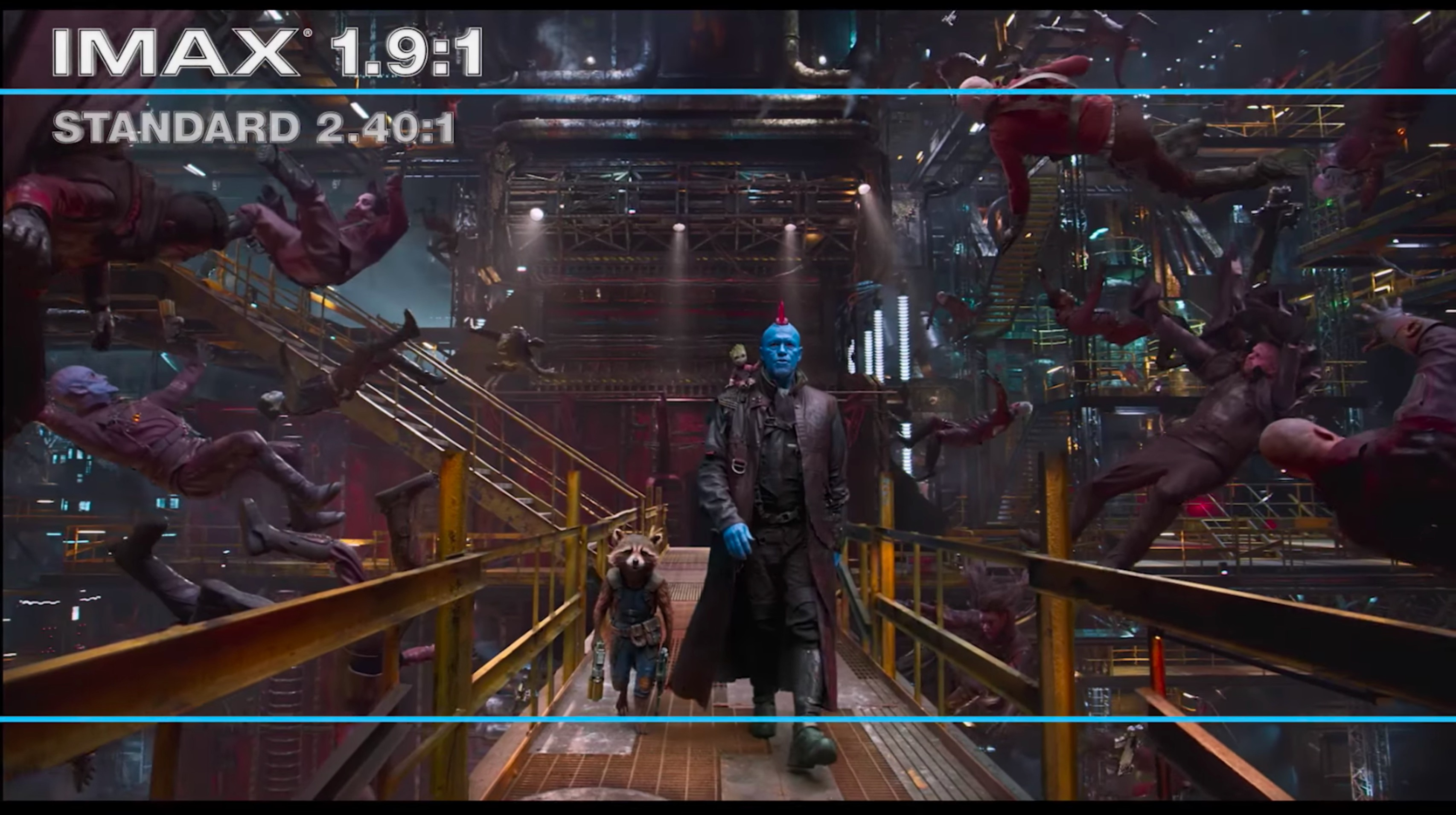 guardians of the galaxy 2 imax ratio difference