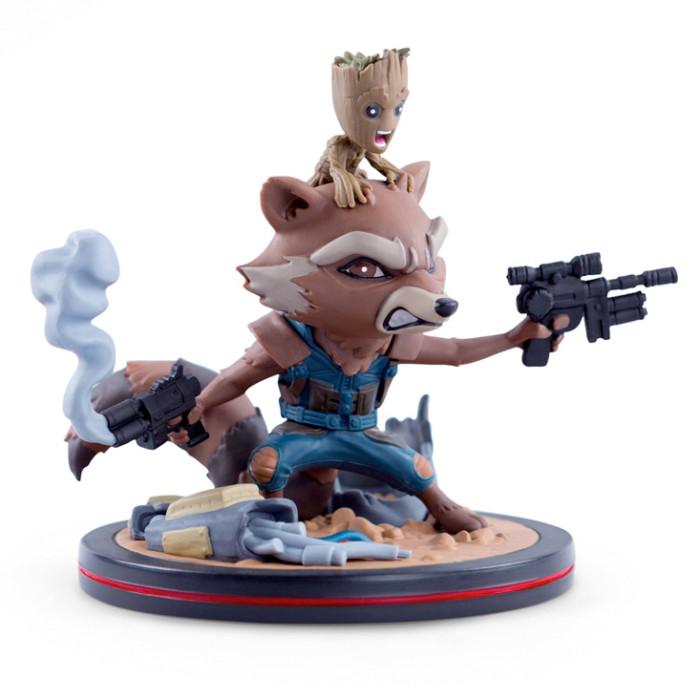 Rocket Raccoon and Groot Q-Fig