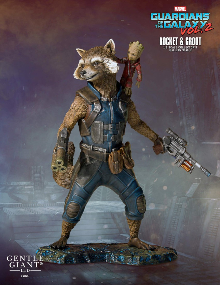 Guardians of the Galaxy 2 - Rocket and Groot Statue - Gentle Giant
