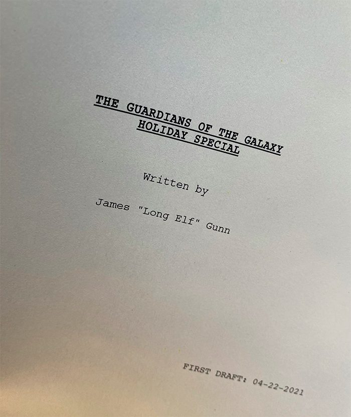Guardians of the Galaxy Holiday Special First Draft