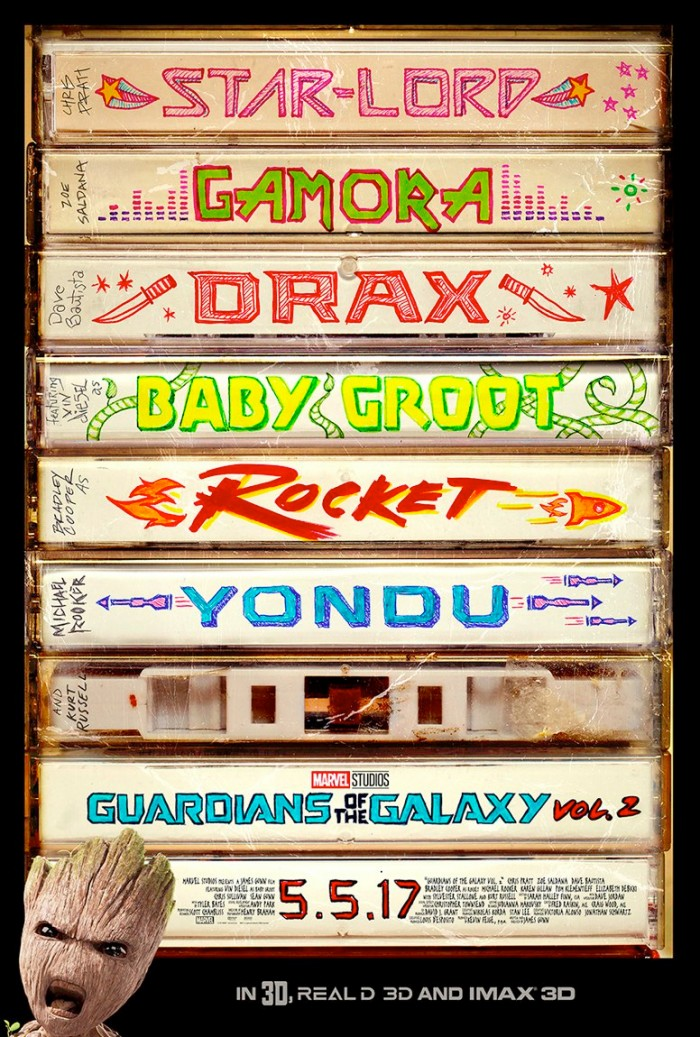 Guardians of the Galaxy 2 Mixtape Poster