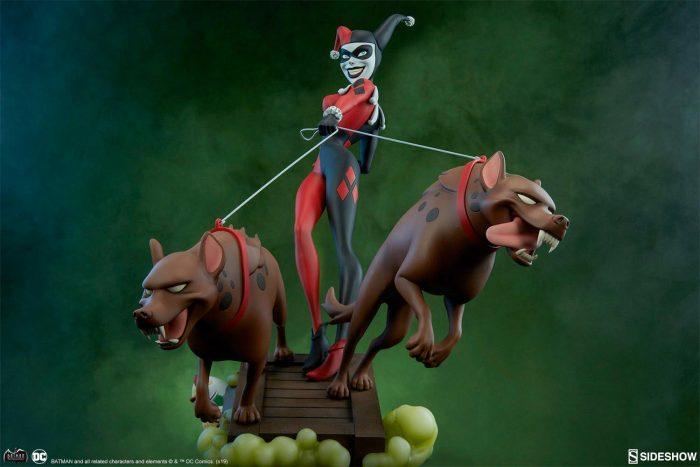Harley Quinn and Hyenas Statue
