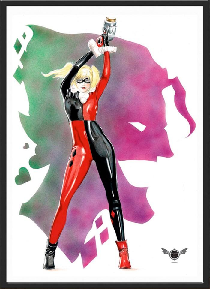 Harley Quinn and The Joker Print