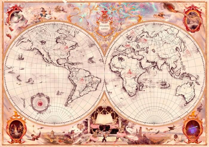 Harry Potter - Wizarding Schools Map