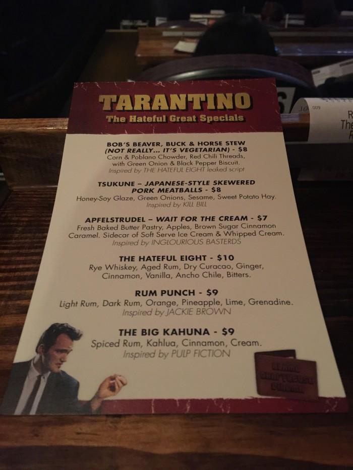 hatefule eight menu