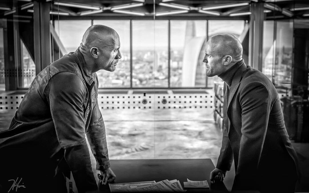 First Look at Hobbs and Shaw Reveals an Intense Stare Down
