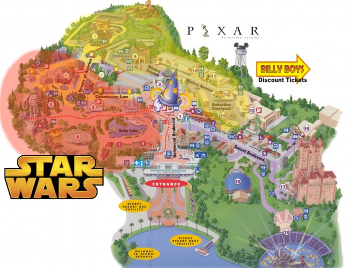 Rumored Disney Hollywood Studios Changes Map