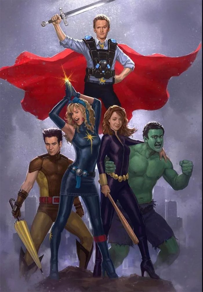 How I Met Your Mother Cast as Marvel Superheroes By Andy Park
