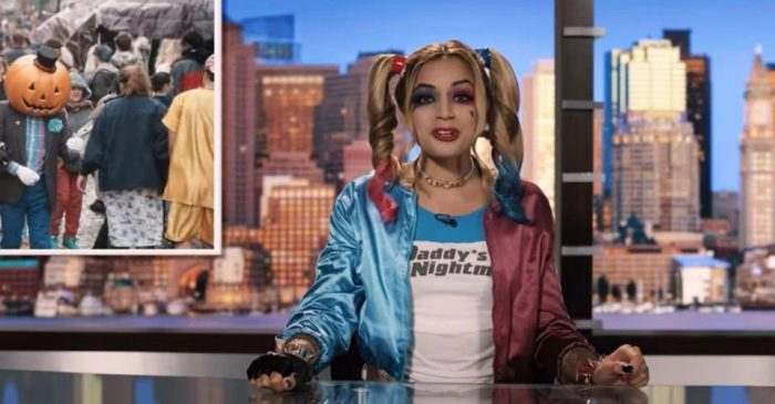 Hubie Halloween - Harley Quinn News Anchor