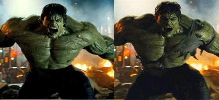The Incredible Hulk comparison